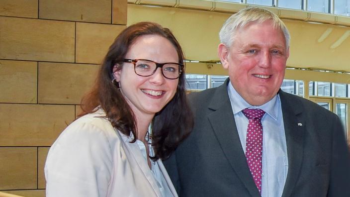 MdL Katharina Gebauer und NRW-Gesundheitsminister Karl-Josef Laumann